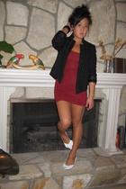 American Apparel dress - Isabelle Fiore - Zara blazer