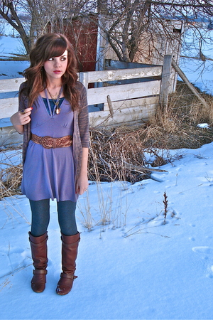 pink Urban Outfitters cardigan - purple Urban Outfitters top - gray Forever 21 l