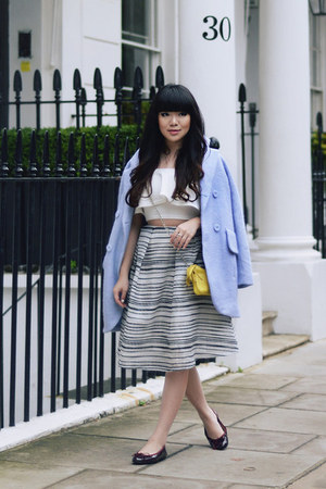 pale blue wool coat