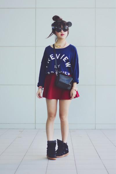 sweater - sunglasses - sneaker wedge wedges