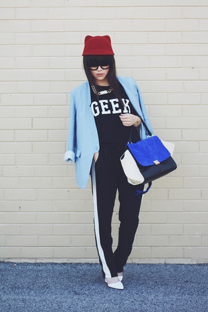 geek tee t-shirt - track pants pants