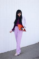 lilac zipped pants