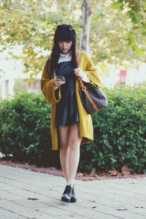 dress - cardigan