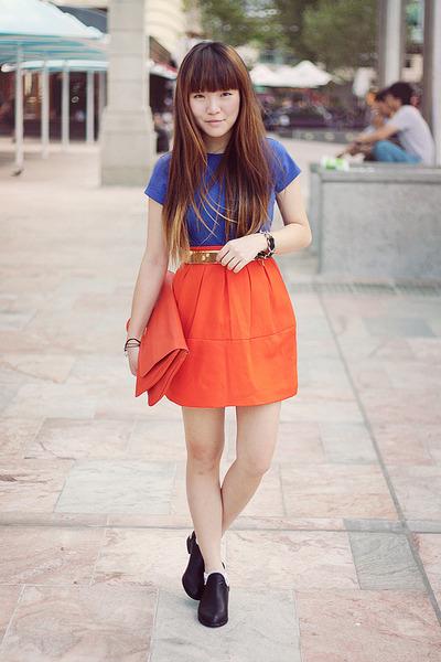 skirt - bag - belt