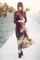 supre shirt - galaxy skirt - wedges