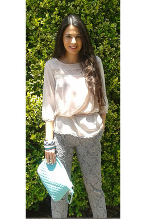 Bassemenet blouse - DO it bag - tan H&M pants