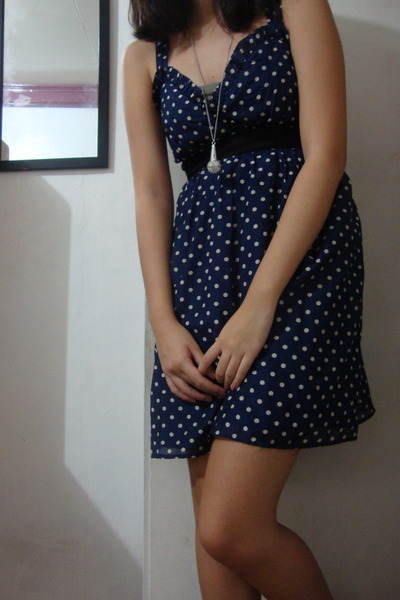 blue Forever 21 dress - silver Forever 21 accessories - gray Mango intimate