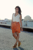 Forever 21 skirt - Blaque Muse top - Jeffrey Campbell wedges