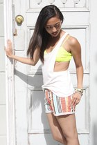 lucca couture bra - BCBGeneration shorts - lucca couture top