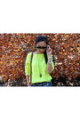 Black-steve-madden-boots-chartreuse-royal-mint-sweater