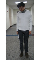 H&M sweater - banana republic sweater - Andy Warhol X Levis jeans - Zara shoes