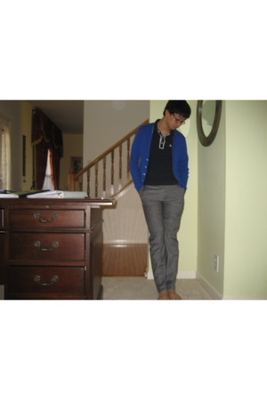 Original Penguin shirt - American Apparel sweater - Prada pants