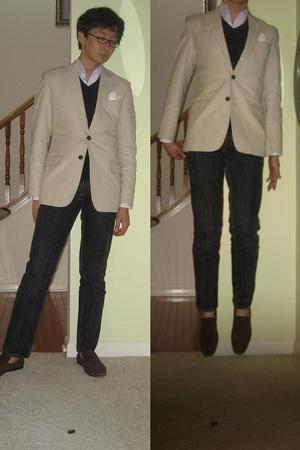 Michael Bastian blazer - Cuseri sweater - Bespoke shirt - vintage jeans