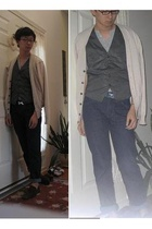Dolce and Gabbana sweater - H&M vest - American Apparel shirt - Hermes belt - D&