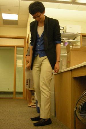 Custom-made blazer - American Apparel sweater - Michael Bastian pants - Zara sho