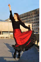 ruby red maxi skirt Monnari skirt