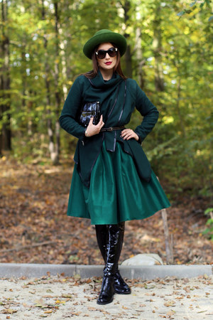 forest green sammydress coat - forest green Choies skirt