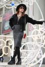 Black-laced-deal-sale-top-heather-gray-pencil-skirt-zara-skirt