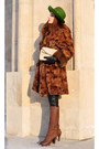 Dark-brown-with-heels-donna-loka-boots-dark-brown-fur-no-name-coat