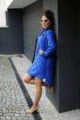 Blue-river-island-dress-nude-michael-kors-heels