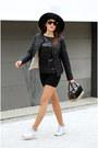 Black-sisley-hat-black-asos-blazer-ivory-air-nike-sneakers