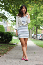 white striped H&M dress