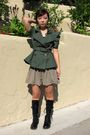 Green-forever-21-jacket-brown-forever-21-skirt-black-hot-topic-boots-silve