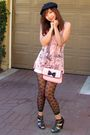 Pink-alainn-bella-top-white-unionbay-shorts-black-claires-leggings-black-f