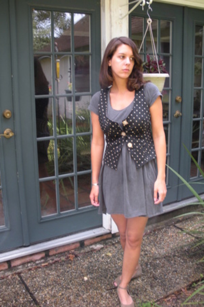 Urban Outfitters dress - jovovich-hawk for target vest - Bandolinoor something t