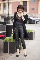 Zara shoes - Tally Weijl sweater - second hand blouse - H&M pants