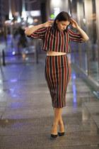 H&M Trend blouse - Zara heels - H&M Trend skirt