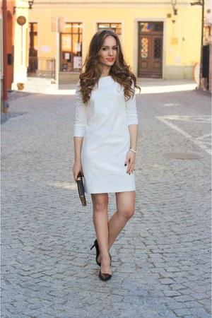 white illuminate dress