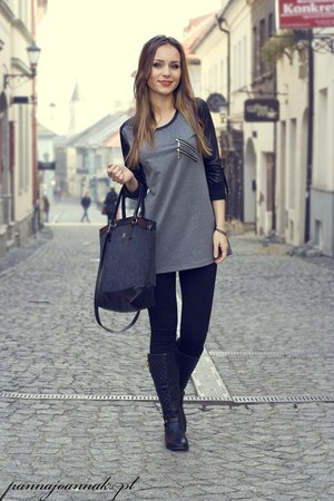 charcoal gray Terranova blouse