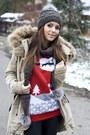 Camel-bershka-blouse