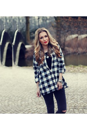 black Sheinside blouse