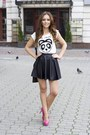 Black-bershka-skirt