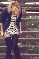 dont know tights - second hand jeans - H&M jacket - H&M shirt