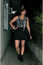Black-payless-boots-dark-gray-mango-top-black-forever21-skirt