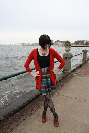 seychelles shoes - Target tights - Forever 21 cardigan - modcloth skirt