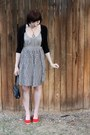 Spotted-moth-dress-vintage-from-antique-mall-bag-forever-21-cardigan-etsy-