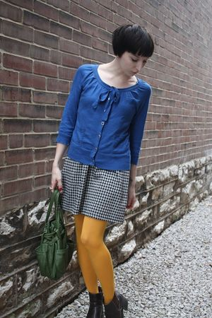 vintage from Timeless Authentic Garments bag - HUE tights - thrifted boots - thr