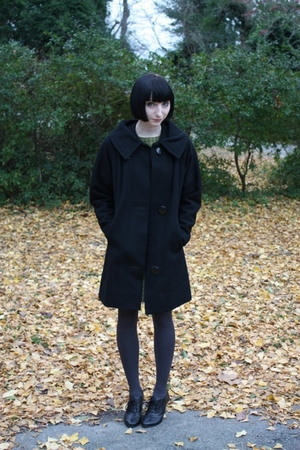vintage coat - delias shoes