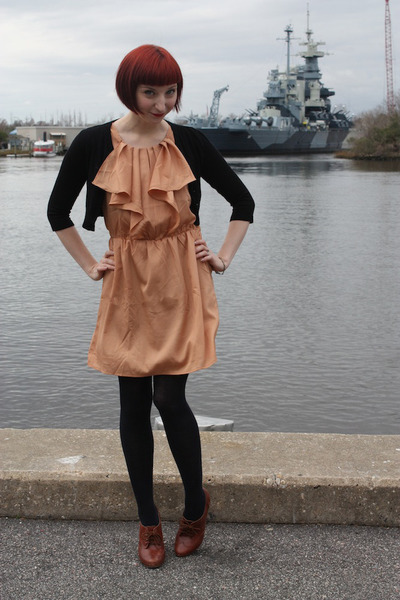 modcloth dress - Chinese Laundry tights - seychelles heels - Forever 21 cardigan