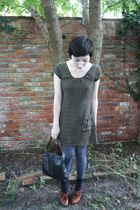 Sophistix dress - Target tights - seychelles shoes - vintage bag