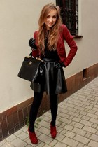 H&M jacket - Centro boots - h&m divided skirt - Mohito gloves