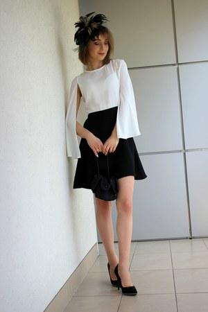 black Zara dress - black second hand bag