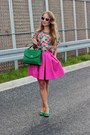 Hot-pink-mohito-skirt-white-zara-glasses