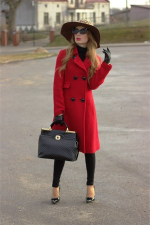 ruby red Mango coat