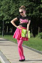 cropp t-shirt - H&M shirt - Bershka bag