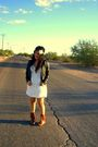 White-dress-black-jacket-brown-forever-21-boots